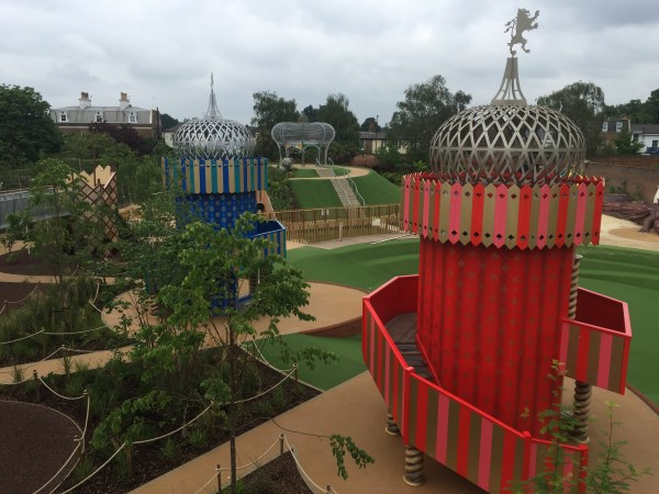 View of Magic Garden at Hampton Court
