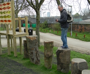 Photo of Tim at Maiden Lane play space, Camden
