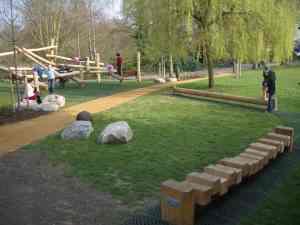 Natural play space, Waterlow Park, Highgate, London