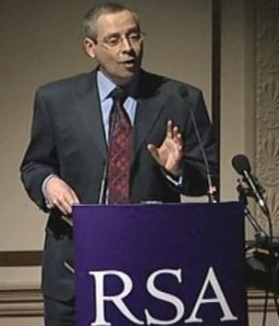 Photo of Tim talking at the RSA in 2007