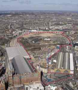 Kings Cross Central aerial photo