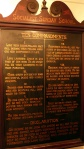 Wooden plaque showing Socialist 10 Commandments