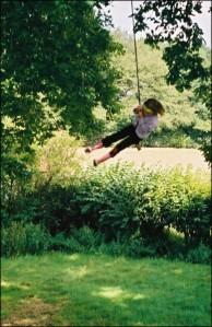Rosa on a tree swing