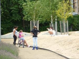 Four girls in Spa Fields