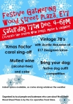 Poster for Wood St festive gathering