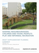 Cover of draft GLA SPG on play