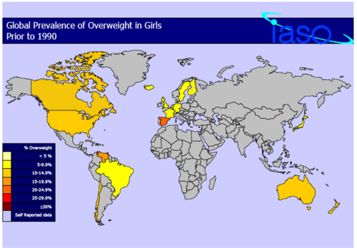 world obesity rates for girls pre 1990
