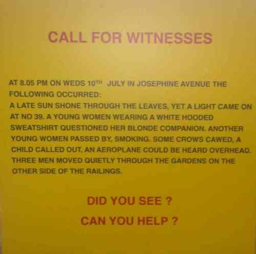 'Witness Board' by Jane Millar