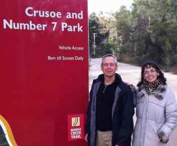 Lenore and Tim at a Bendigo nature reserve