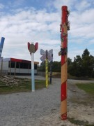 Decorated poles