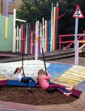 Glamis Adventure Playground double swing