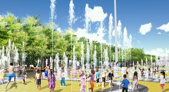 Queen Elizabeth Olympic Park Fountain Concept