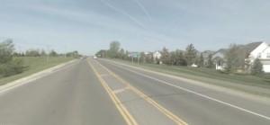 Road near Bailey School, Minnesota.