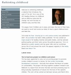 Rethinking Childhood website 2010