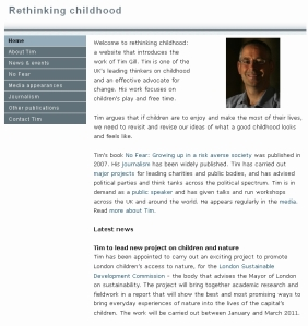 Rethinking Childhood website 2010