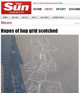 Screengrab Sun hopscotch story