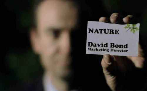 David Bond with business card