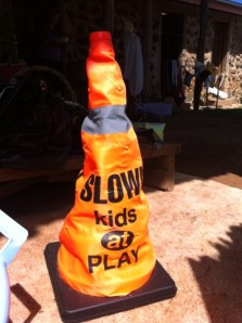 Kids at play traffic cone