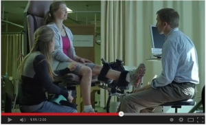 Procter and Gamble video screenshot girl with broken leg