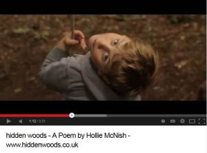 Screengrab of Youtube Hidden Woods video with boy swinging