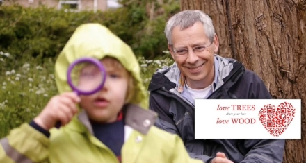 Tim and a boy: forest school video still