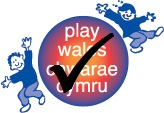 Play Wales logo with tick