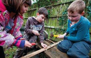 Children using tools