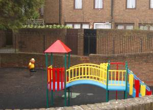 Playground in housing estate