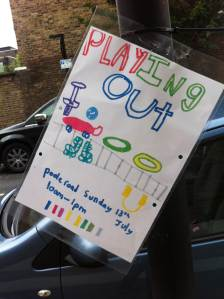Street play notice