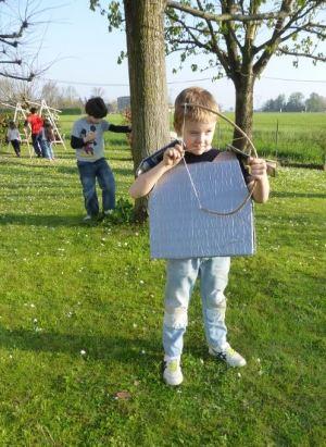bow arrow boy