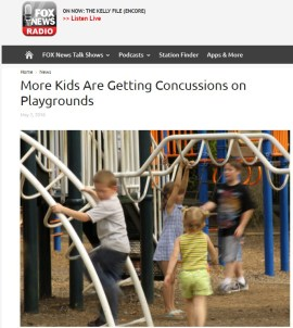 Fox news screengrab playground concussions