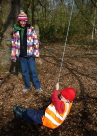 Bayonne Nursery School Forest School session