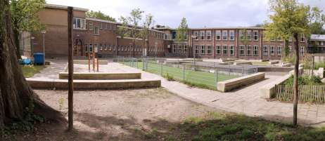 Al Ghazali School playground - before