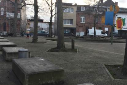 Fonteineplein: a new square in Brugse Poort, Ghent