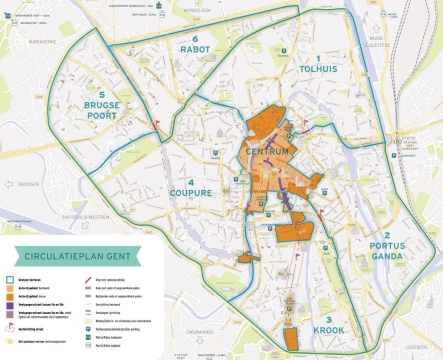 Map of Ghent Circulation Plan