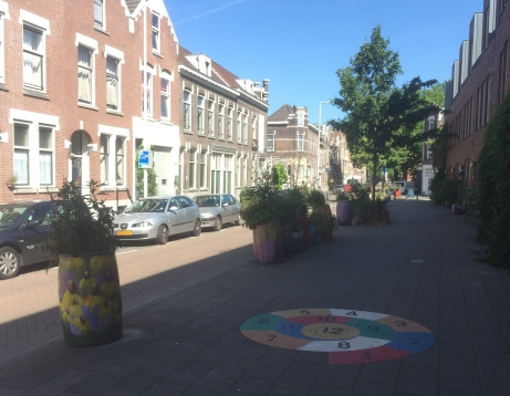 West Rotterdam residential street with play features in the pavement
