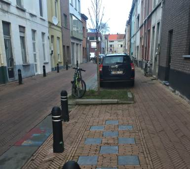 Street in Brugse Poort 'Red Carpet', Ghent