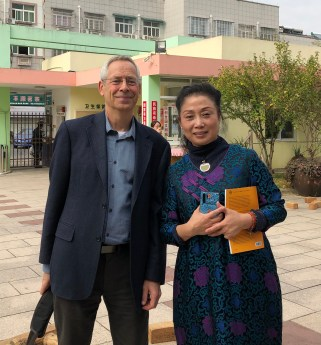 Tim Gill and Mrs Cheng, founder of Anji Play