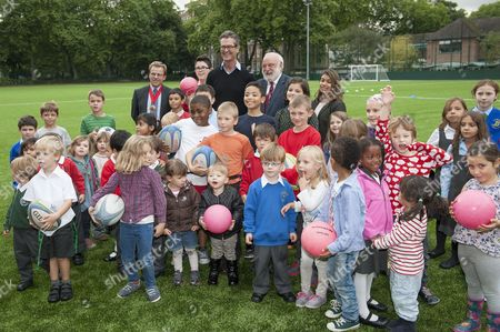 Frank Dobson and Rupert Everett Opens the New Sports Pitches for the 'Coram's Fields' Children's Charity, London, Britain - 12 Sep 2013