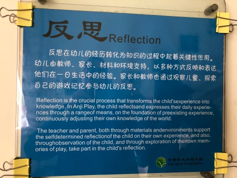 Poster showing Anji Play Principle: Reflection