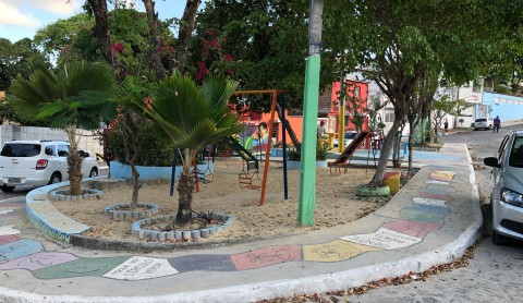 Refurbished playground in Lagoa Encantada neighbourhood, Recife