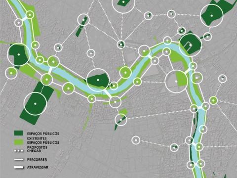 Parque Capabaribe schematic plan