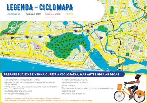 Recife ciclovia map