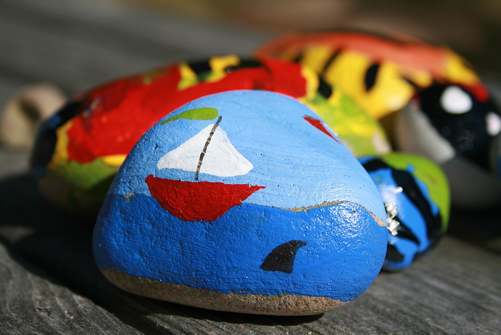 Photo of a painted rock