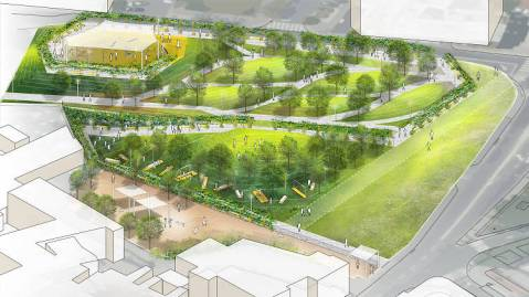 Concept design for Elifelet Park.