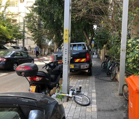A residential street in downtown Tel Aviv.